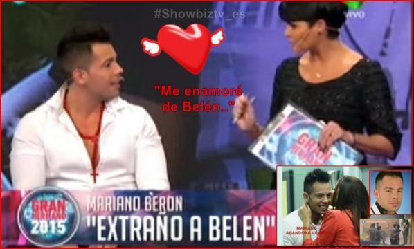 Mariano afirma que se enamoró de Belén