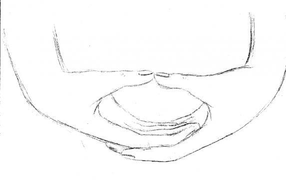 Mudra Dhyana na representação da meditação