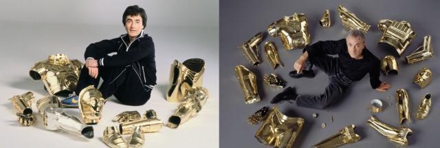 1-Anthony Daniels actuó como el androide C-3PO