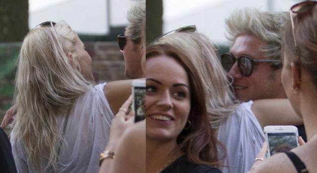 Bela loira deu nas vistas com Niall no Festival