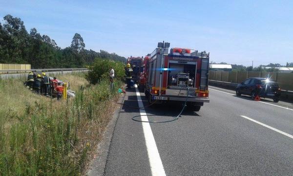 O acidente aconteceu na A28.