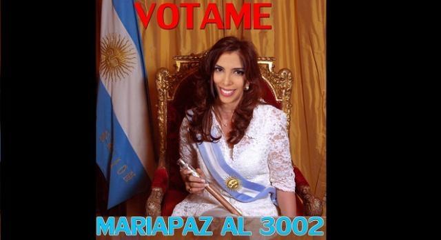 Maipi personificada como la Presidenta