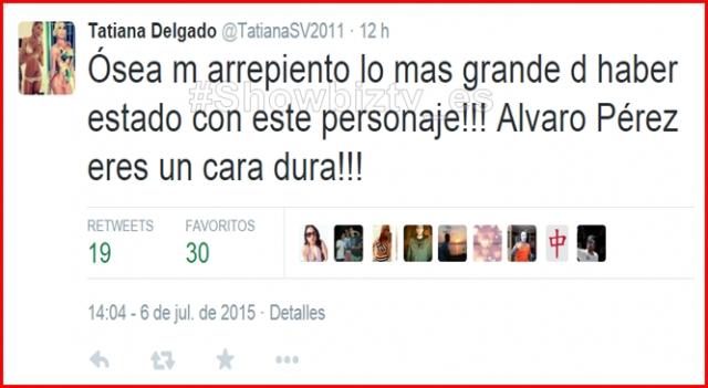 El tweet que colgó Tatiana
