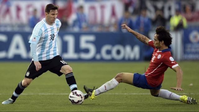 Messi fue frenado con fouls durante la final
