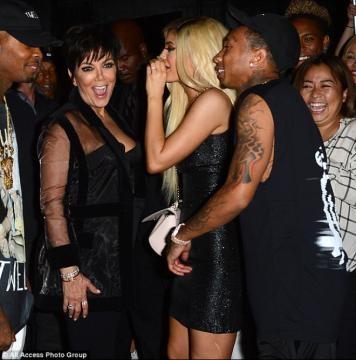 Kris Jenner, Kylie Jenner e Tyga