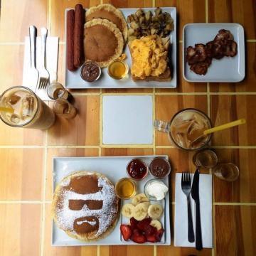 Desayuno típico de la cafetería Walter´s
