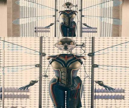 El traje de Wasp en primera persona