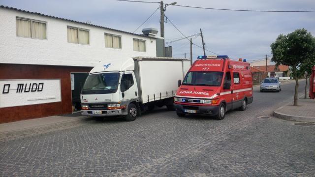 Mulher foi transportada para Hospital de Braga.