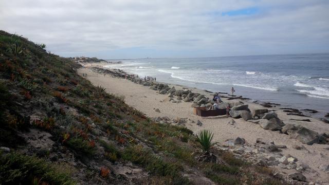 Praia das Pedrinhas onde aconteceu o acidente.