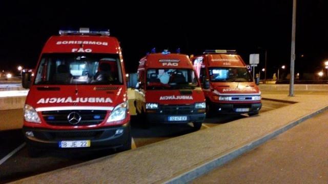 Vítimas foram transportada para Braga.