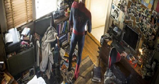 Desorden en el cuarto de Spidey