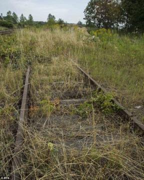 El tren estaría enterrado junto a 4 kms de vías