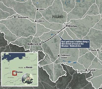 Mapa de las vías férreas polacas
