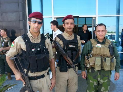 I peshmerga che hanno assicurato la sicurezza