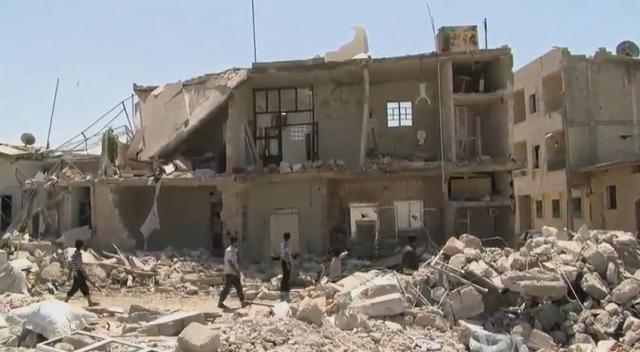 Edificio destruido en plena Guerra Civil Siria.