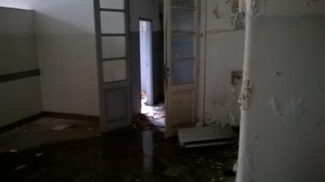 Pabellón Cobos: inundaciones a la orden del día.