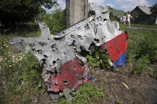 Rottami dell'aereo che hanno sollevato dubbi