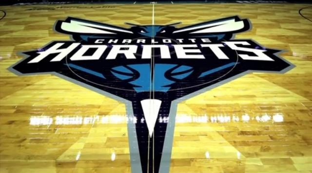 Hornets logo and beehive floor design is terrific