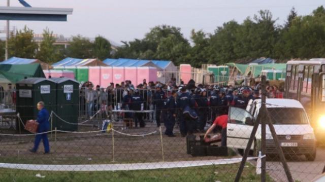 Flüchtlingslager Röszke in Ungarn