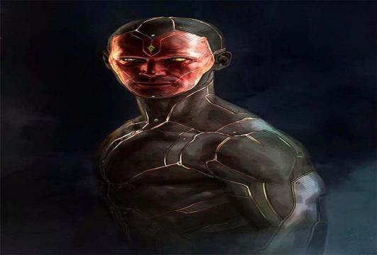 Torso y cara de Vision oara Civil War