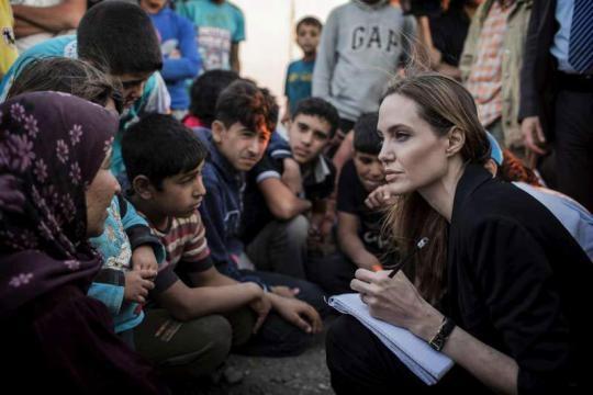 Angelina Jolie de visita à Síria