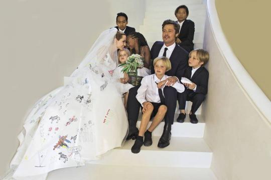 O casamento de Angelina e Brad