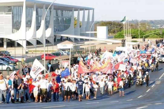 Paralisação geral contra o governo Dilma