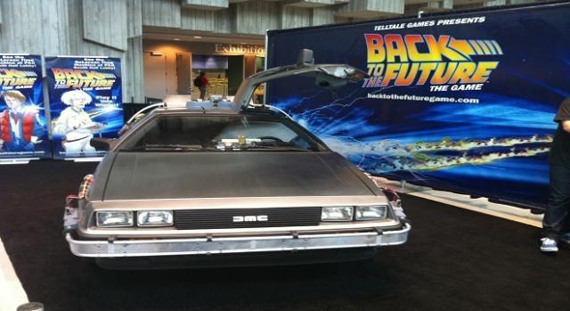 El famoso DeLorean en el que viajan al futuro
