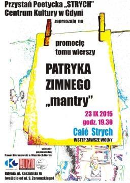 Plakat - zaproszenie na promocję wierszy