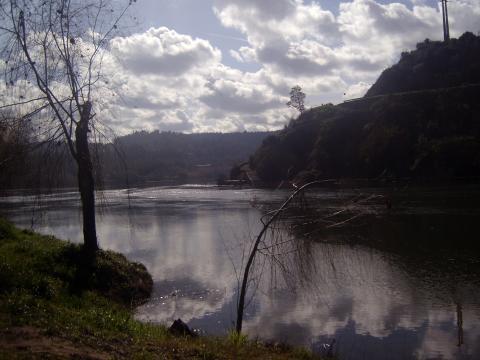 Foz do rio Zêzere em Constância.