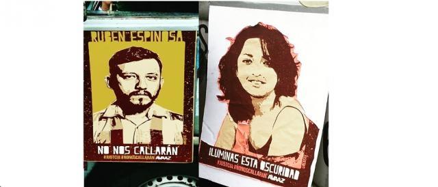 Por Mitzi Vera, cartelería de Ayotzinapa