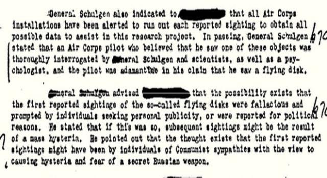 Parte 2 del primo memorandum declassificato