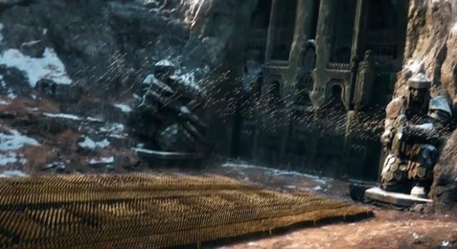 Los elfos disparan sus flechas