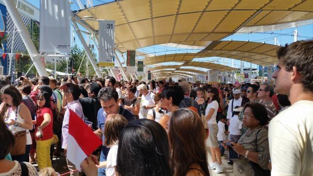 Expo2015 padiglione Indonesia in festa