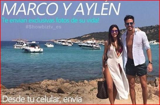 Marco y Aylén de vacaciones comparten su foto