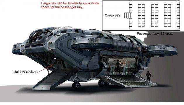 Nave de carga que utilizarán los Avengers