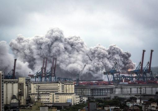 Nube de gas tóxico que se cierne sobre São Paulo.
