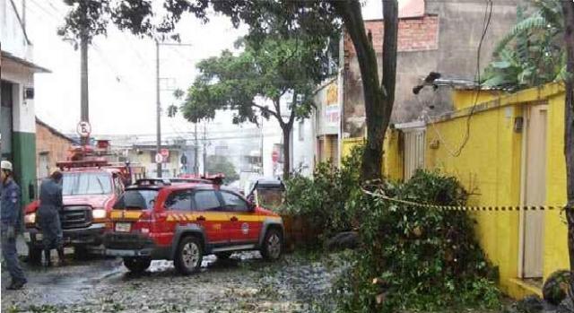 Chuva atinge vários pontos da Capital Mineira.