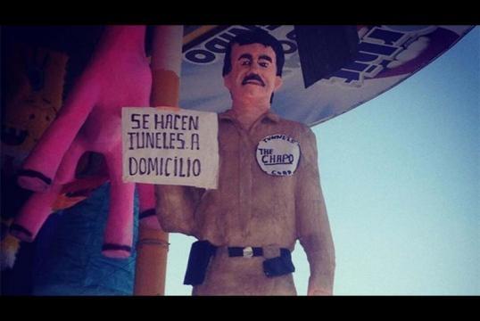 piñata del Chapo. foto:de10.com
