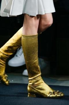 Gogo-boots dorati Bottega Veneta