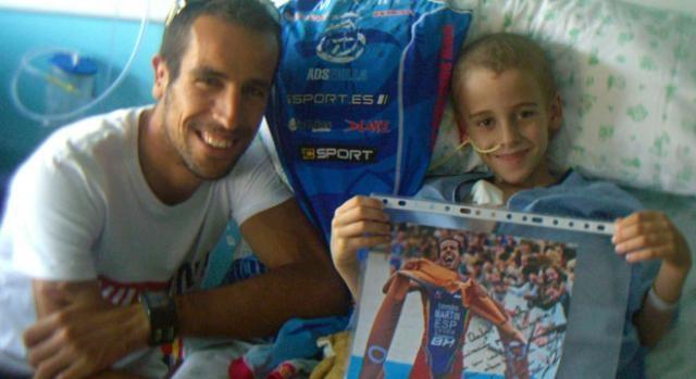 Rafa con Emilio Martín, campeón de Duatlón.
