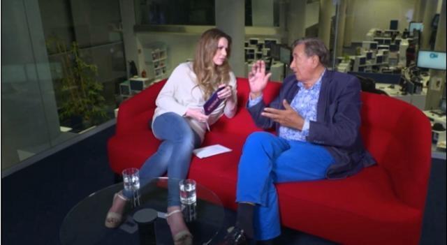 Richard Lugner im Gespräch mit Katrin Lampe von oe24