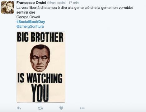 La libertà di stampa direttamente da #1984 di George Orwell.