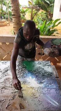 Didier Ebanda en plein travail