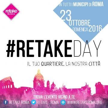 La locandina del #RetakeDay del 23 ottobre