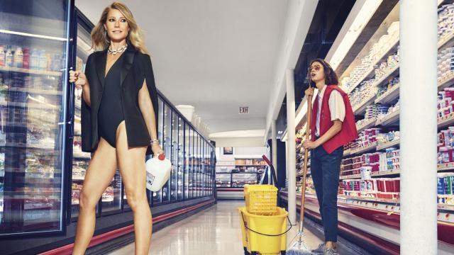 Gwyneth ha solo che l'imbarazzo della scelta per i suoi acquisti. Foto di Alex Lubomirski