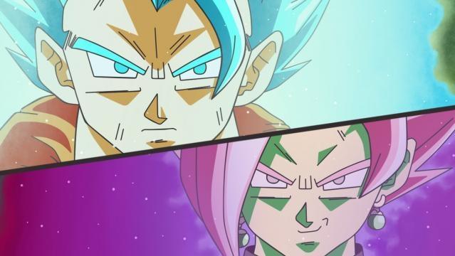 Fan art de la fusión de Zamasu vs Vegetto super saiyajin Blue