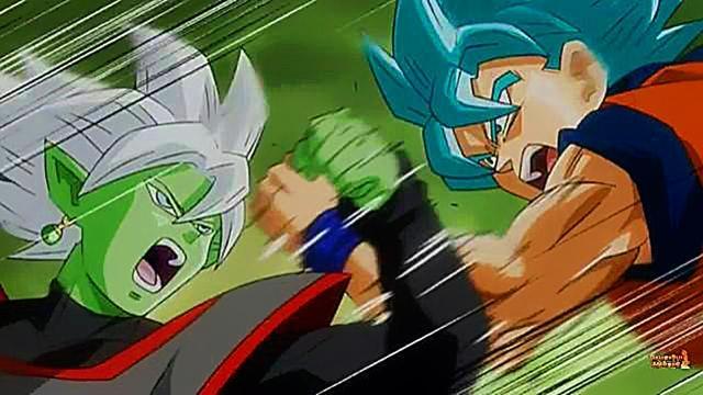 Goku se enfrenta a Blamasu en el futuro