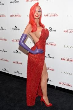 Heidi Klum in versione Jessica Rabbit ad Halloween 2015