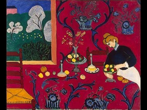Matisse. Armonía en rojo o El cuarto rojo. 1908